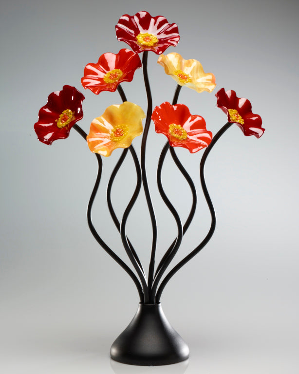 7 Flower Autumn - Glass Flowers by Scott Johnson