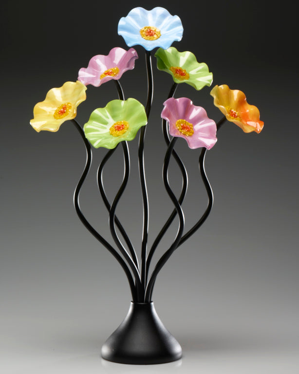 Load image into Gallery viewer, 7 Flower Pastel - Glass Flowers by Scott Johnson