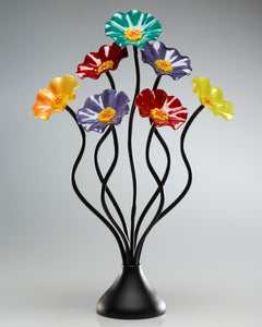 7 Flower Surprise - Glass Flowers by Scott Johnson