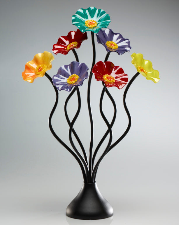 Load image into Gallery viewer, 7 Flower Surprise - Glass Flowers by Scott Johnson