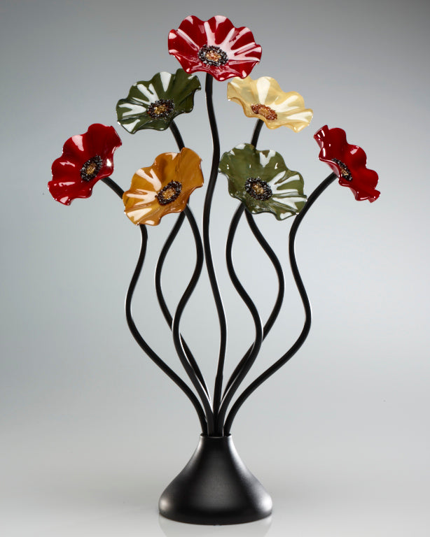Load image into Gallery viewer, 7 Flower Breckenridge - Glass Flowers by Scott Johnson