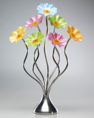 7 Flower Pastel - Glass Flowers by Scott Johnson
