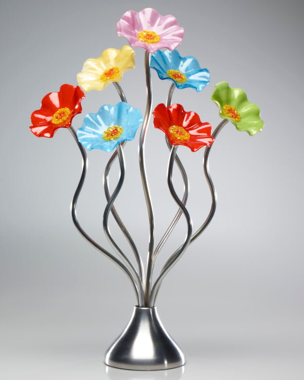 7 Flower Beach - Glass Flowers by Scott Johnson