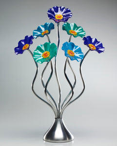 7 Flower Ocean - Glass Flowers by Scott Johnson