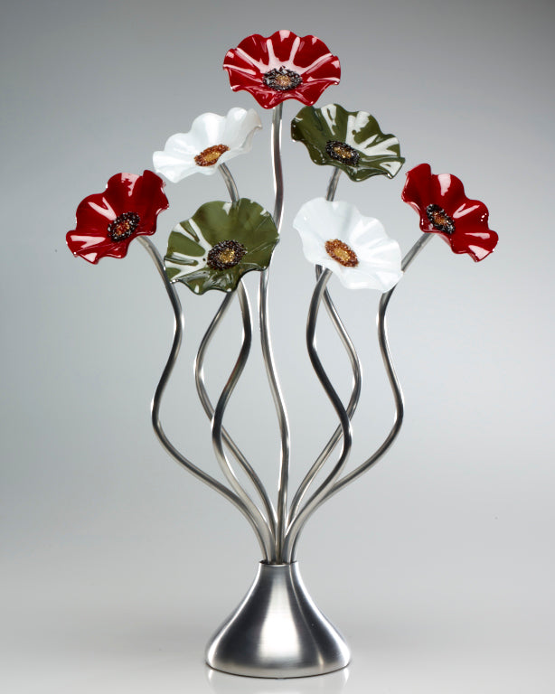 Load image into Gallery viewer, 7 Flower holiday - Glass Flowers by Scott Johnson