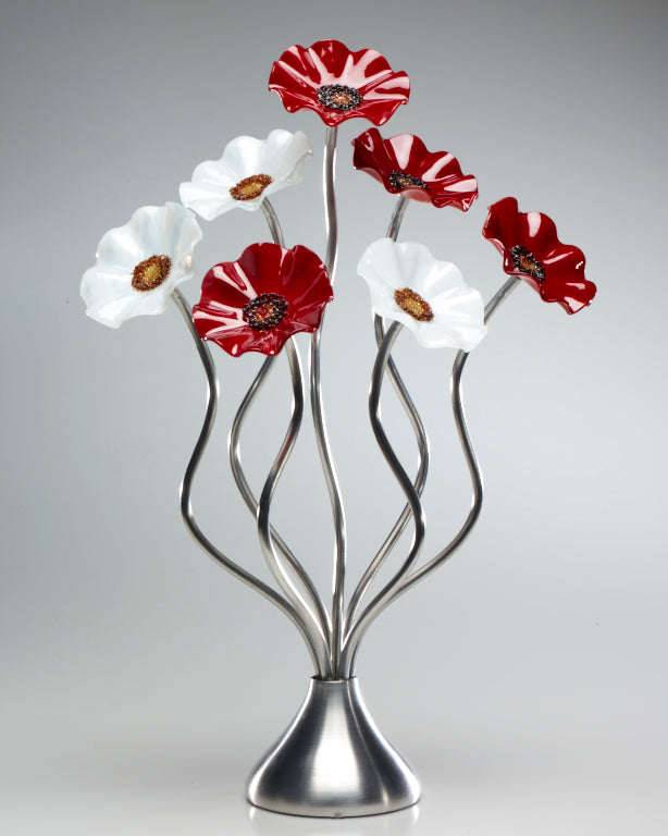 7 Flower Christmas - Glass Flowers by Scott Johnson