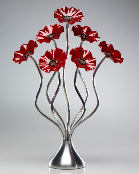 7 Flower All Red - Glass Flowers by Scott Johnson