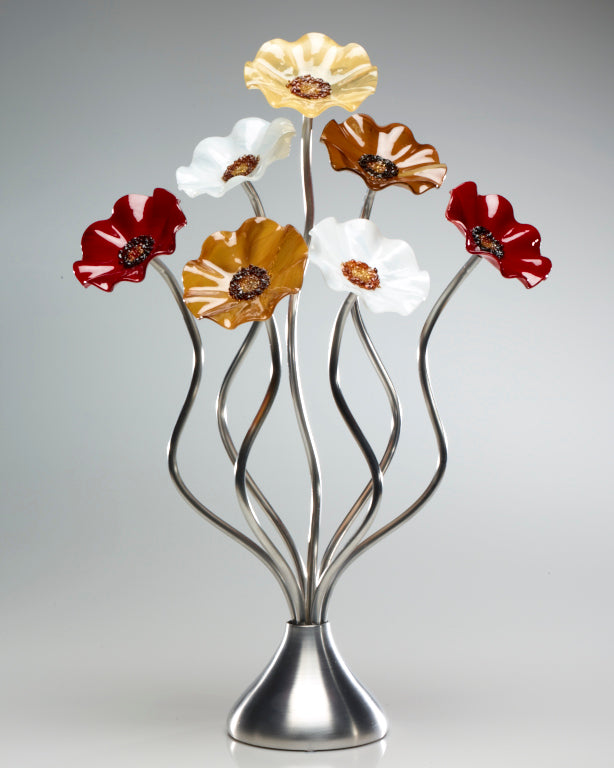 7 Flower Marilyn - Glass Flowers by Scott Johnson