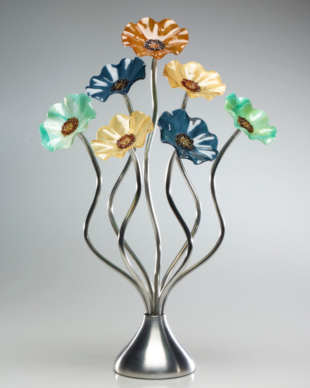 7 Flower Sundrella - Glass Flowers by Scott Johnson