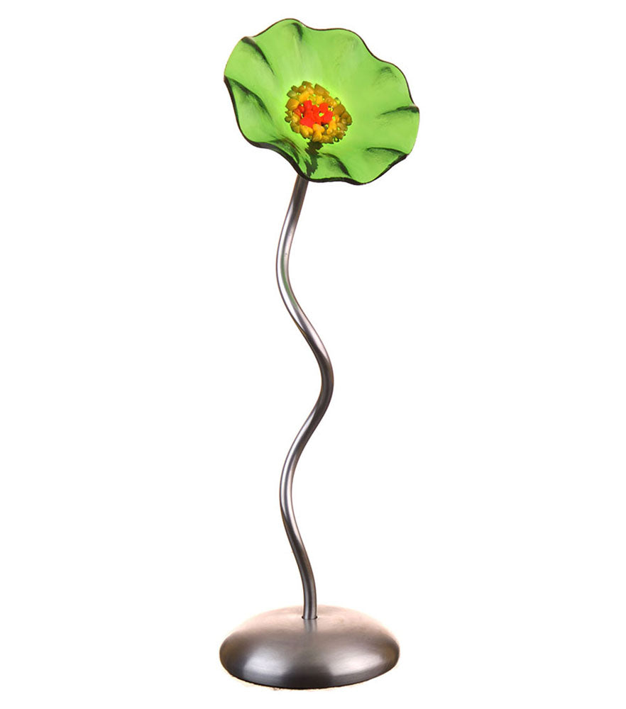 Single Stem - Trans Green - Glass Flowers by Scott Johnson