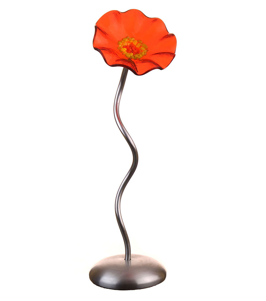 Load image into Gallery viewer, Single Stem - Trans Orange - Glass Flowers by Scott Johnson