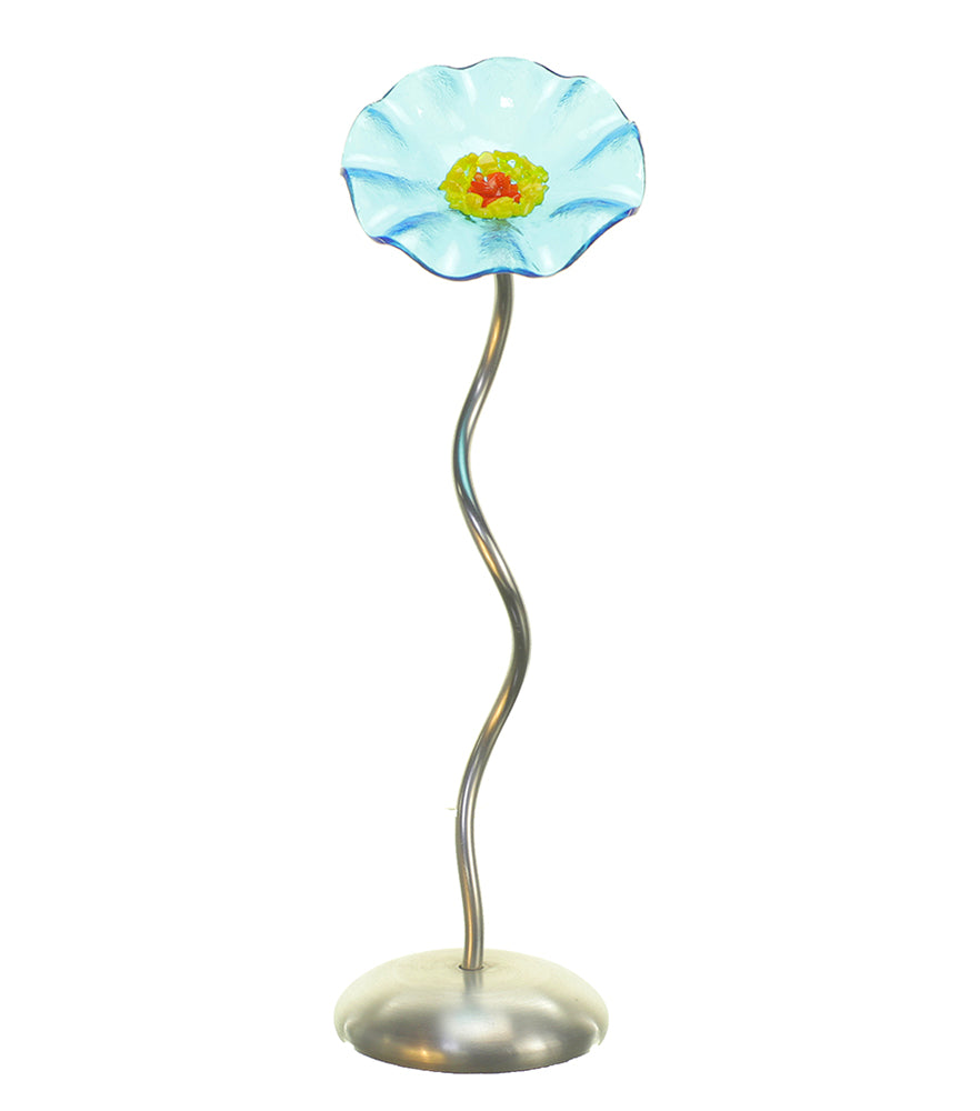 Single Stem - Turquoise - Glass Flowers by Scott Johnson