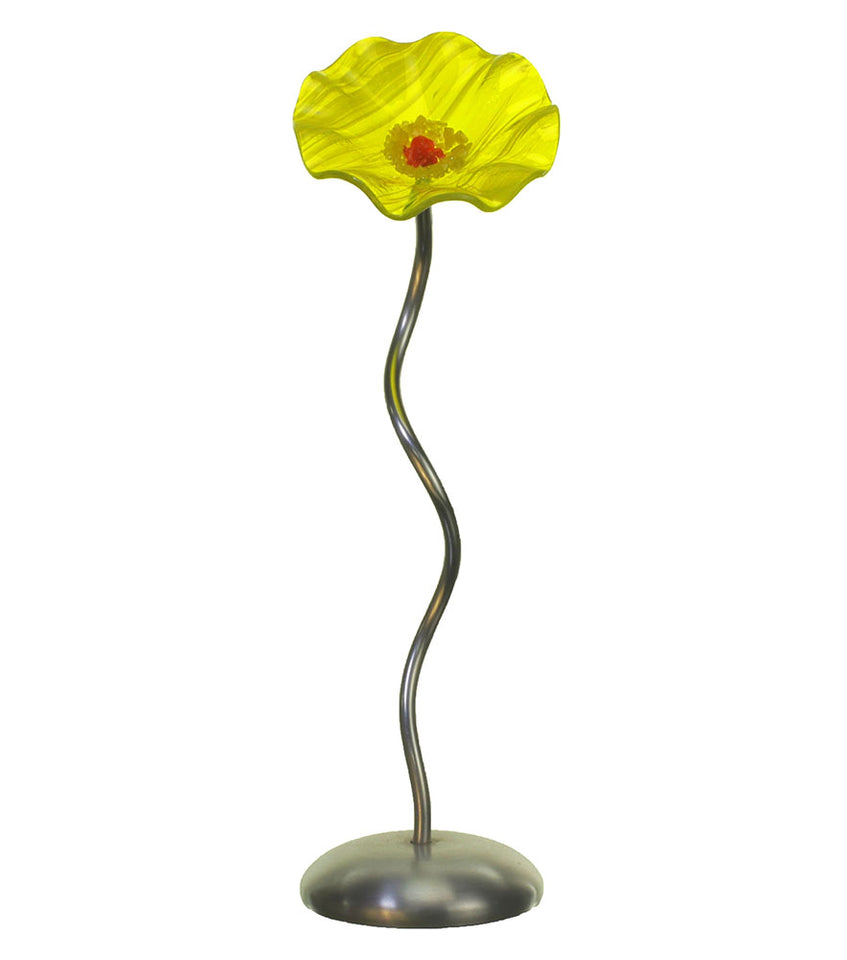 Load image into Gallery viewer, Single Stem - Yellow - Glass Flowers by Scott Johnson