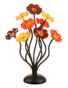 9 flower Autumn - Glass Flowers by Scott Johnson
