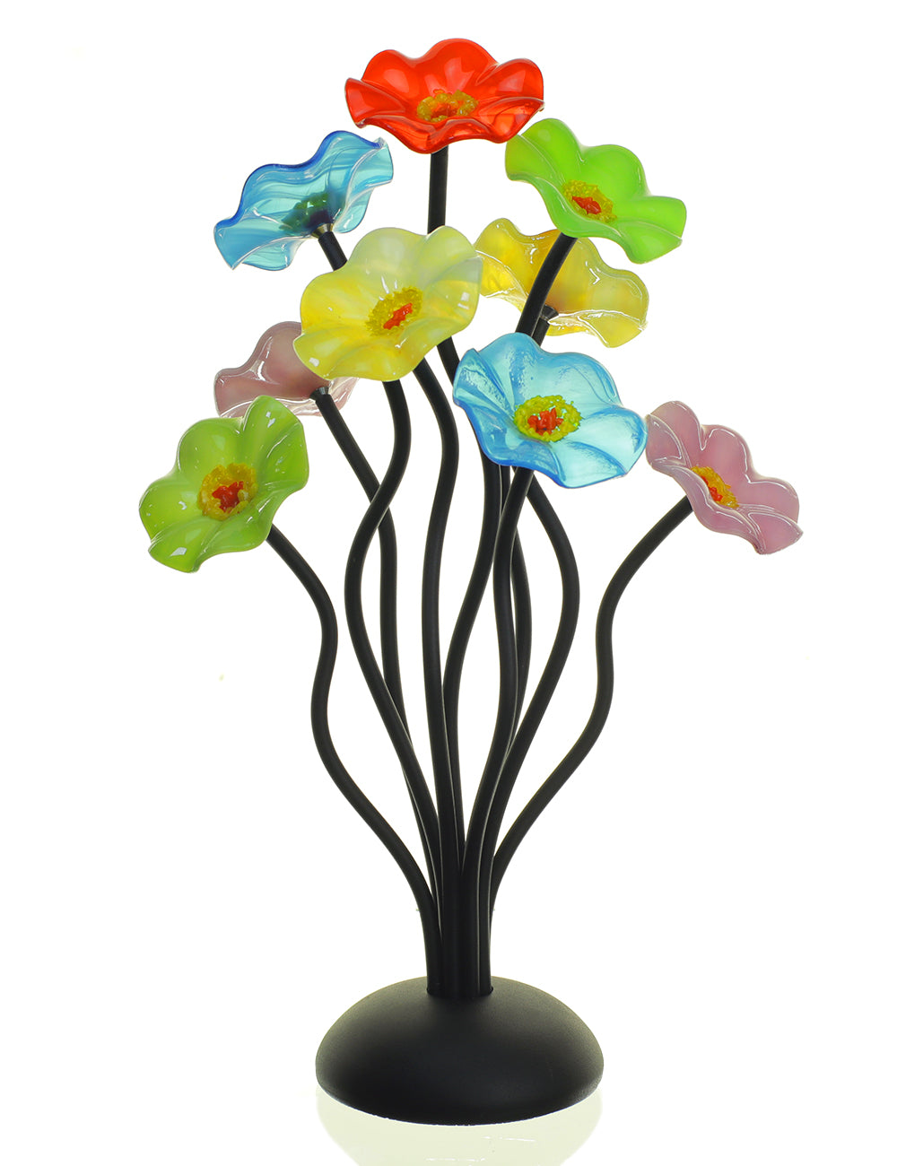 9 flower Pastel - Glass Flowers by Scott Johnson