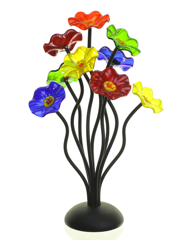 Load image into Gallery viewer, 9 flower Rainbow - Glass Flowers by Scott Johnson