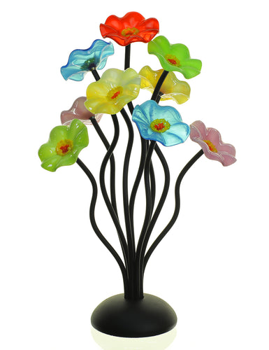 9 flower Beach - Glass Flowers by Scott Johnson