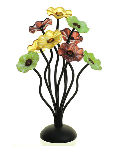 9 flower Aspen 182 - Glass Flowers by Scott Johnson