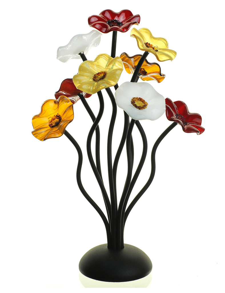 9 flower Marilyn - Glass Flowers by Scott Johnson