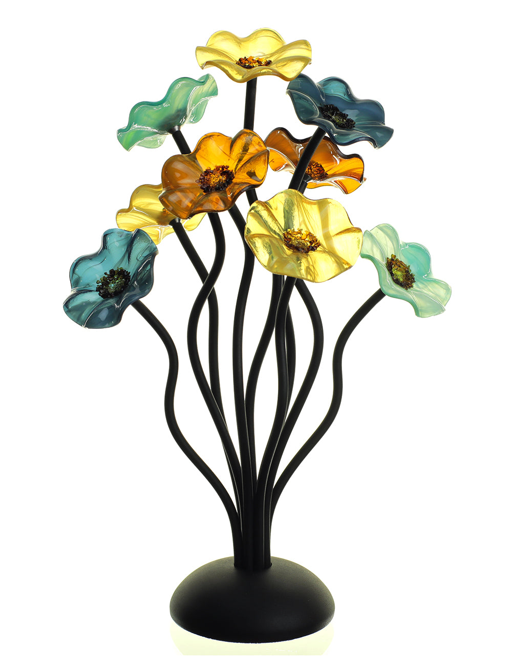 9 flower Sundrella - Glass Flowers by Scott Johnson