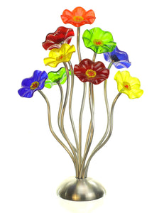 9 flower Rainbow - Glass Flowers by Scott Johnson