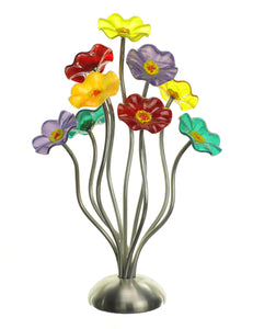 9 flower Surprise - Glass Flowers by Scott Johnson