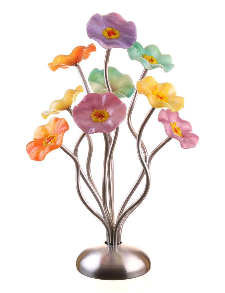 9 flower Monsoon - Glass Flowers by Scott Johnson
