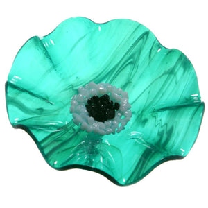 Teal Replacement Flower - Glass Flowers by Scott Johnson