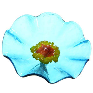 Trans Turquoise Replacement Flower - Glass Flowers by Scott Johnson