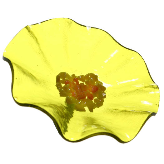 Trans Yellow Replacement Flower - Glass Flowers by Scott Johnson