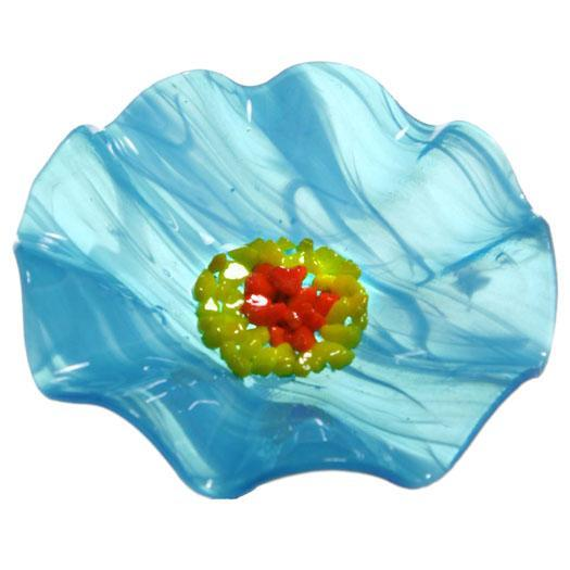 Turquoise Replacement Flower - Glass Flowers by Scott Johnson
