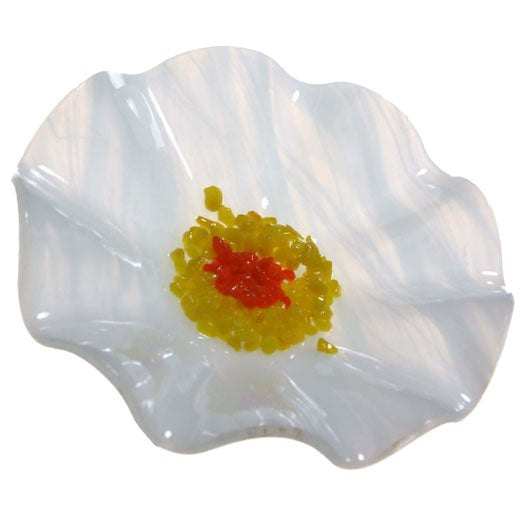 White Replacement Flower - Glass Flowers by Scott Johnson