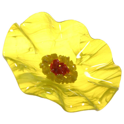 Yellow Replacement Flower - Glass Flowers by Scott Johnson