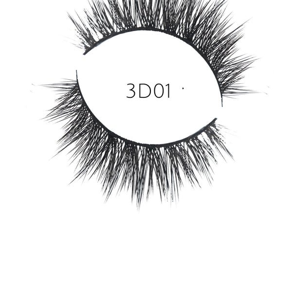 3D 01 Faux Mink Strip Lashes (Vegan)