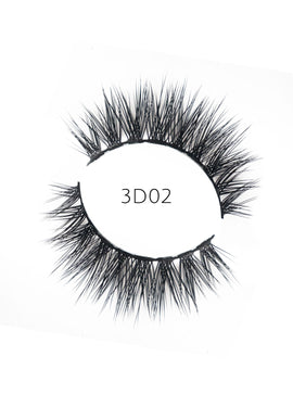 3D 02 Faux Mink Strip Lashes (Vegan)