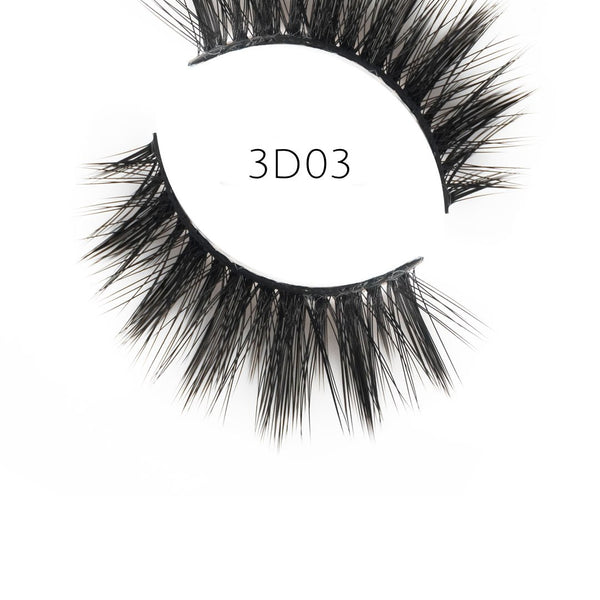 3D 03 Faux Mink Strip Lashes (Vegan)
