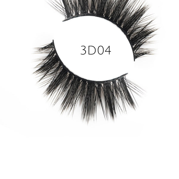 3D 04 Faux Mink Strip Lashes (Vegan)