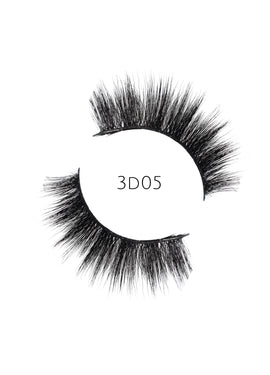 3D 05 Faux Mink Strip Lashes (Vegan)