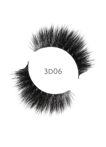 3D 06 Faux Mink Strip Lashes (Vegan)
