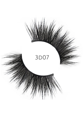 3D 07 Faux Mink Strip Lashes (Vegan)