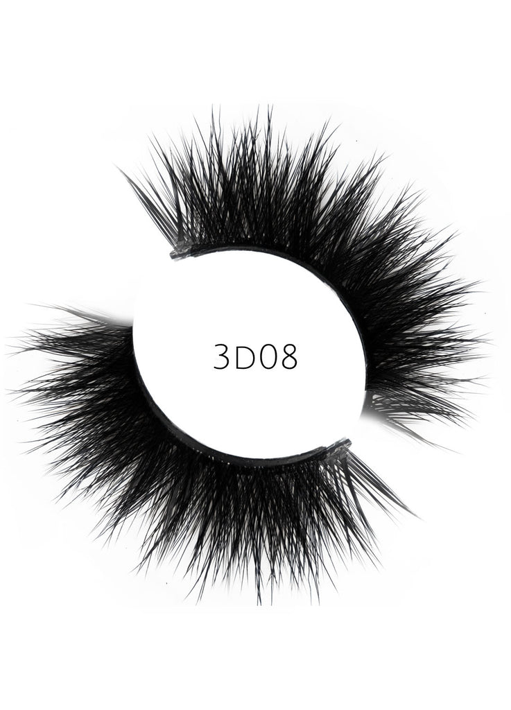 3D 08 Faux Mink Strip Lashes (Vegan)