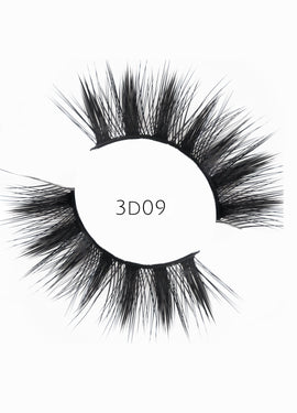 3D 09 Faux Mink Strip Lashes (Vegan)