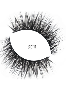 3D 11 Faux Mink Strip Lashes (Vegan)