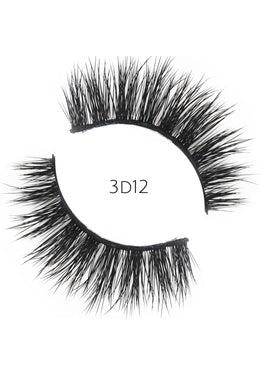 3D 12 Faux Mink Strip Lashes (Vegan)