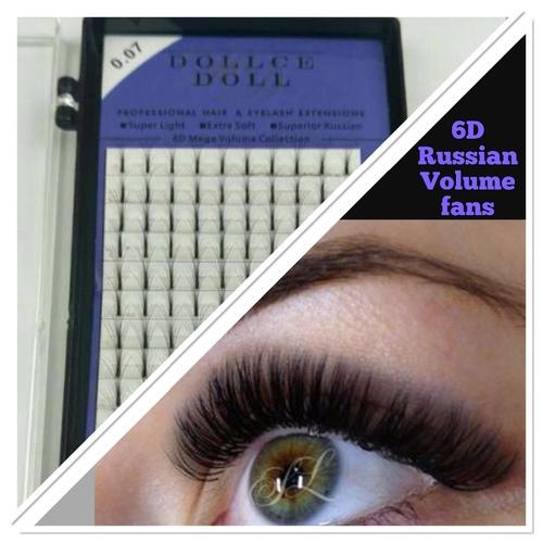 6D Pre Made Russian Fan Lashes
