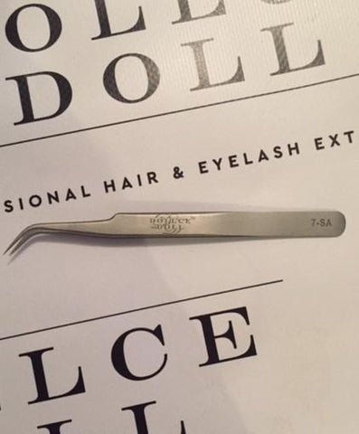 Dollce Doll Professional Curved Tweezers