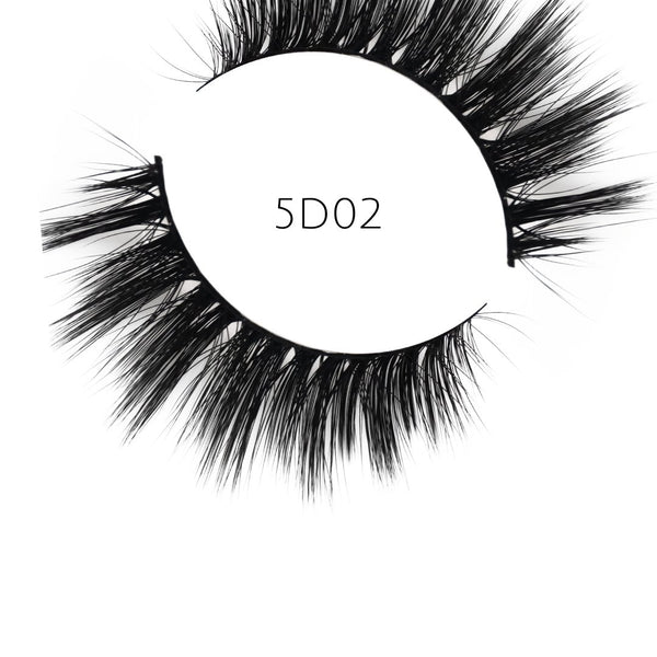 5D 02 Luxury Mink Strip Lashes (Vegan)