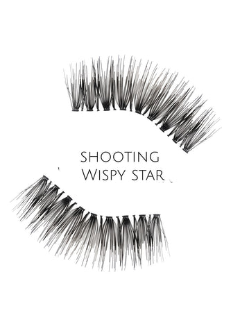 Wispy Shooting star Human Hair Strip Lashes