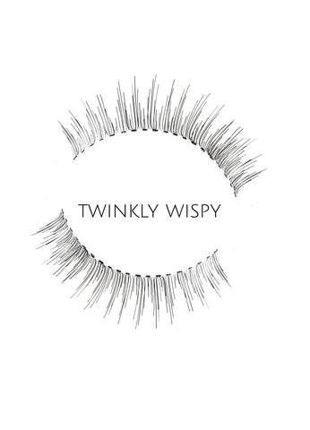 Wispy Twinkly Human Hair Strip Lashes