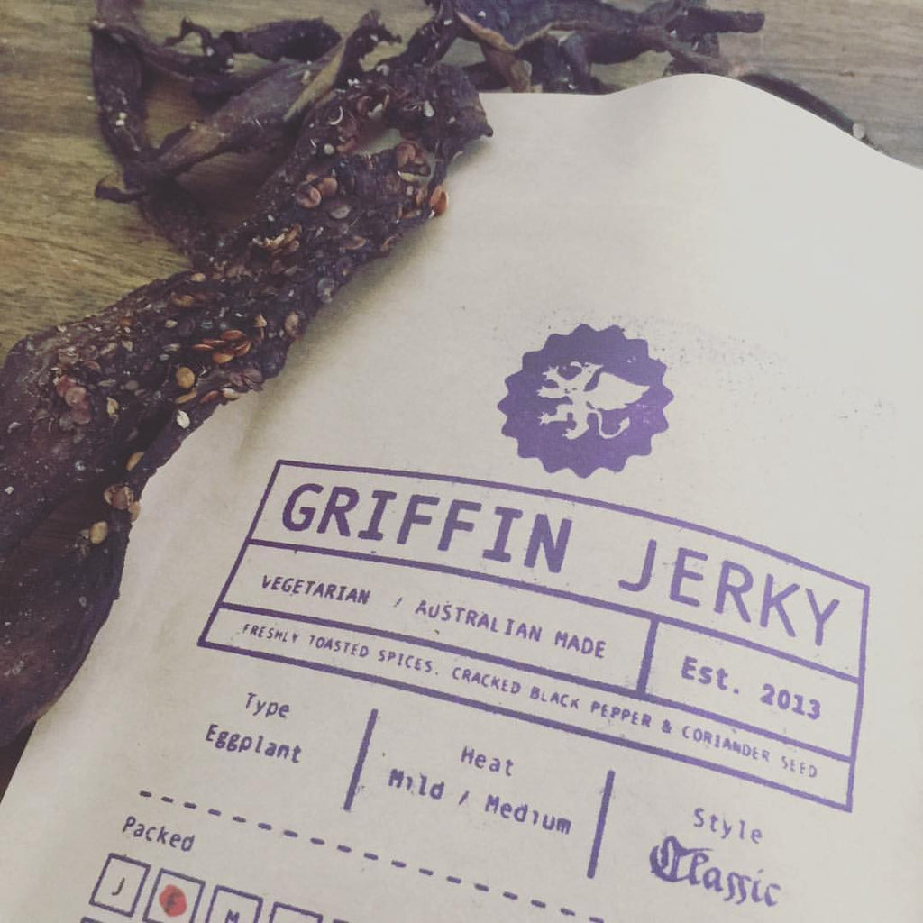 Eggplant Vegan Jerky - Available Wed 22nd Feb only!